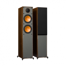 Denon DM41 RCDM41DAB Micro Hi-Fi CD Receiver in Black with Monitor Audio Monitor 200 Floorstanding Speakers in Walnut