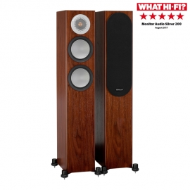 Monitor Audio Silver 200 Floorstanding Speakers Walnut Pair