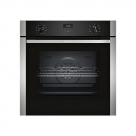 NEFF B1ACE4HN0B Electric CircoTherm Single Oven Black Steel