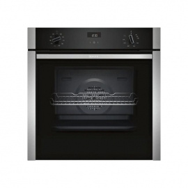 Neff B3ACE4HN0B Slide & Hide Built In Electric Single Oven Stainless Steel