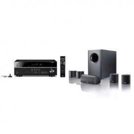 Yamaha MusicCast RXV485 5.1 Channel AV Receiver with Canton Movie 75 5.1 Surround Sound System