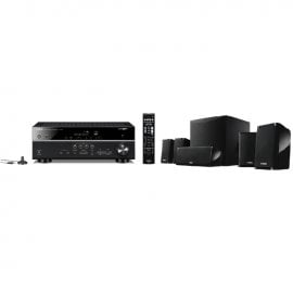 Yamaha MusicCast RXV485 5.1 Channel AV Receiver 3 Year Warranty with NSP41 5.1 Speaker package in Black