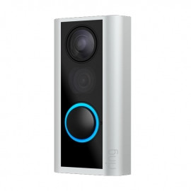 Ring Smart Door View Cam with Built-in Wi-Fi & Camera Black and Satin Nickel