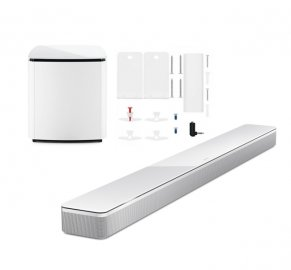 Bose Soundbar 700 with Wall Bracket and Bass Module 700 Subwoofer in White