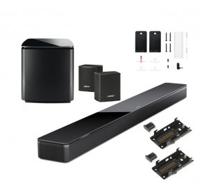 Bose Soundbar 700 with Bass Module 700 Subwoofer, Surround Speakers and Wall Brackets in Black