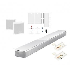 Bose Soundbar 700 with Surround Speakers and Wall Brackets in White
