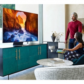 Samsung QE65Q90RATXXU 65 Inch Q90R QLED 4K Quantum HDR Smart TV with Bixby 5