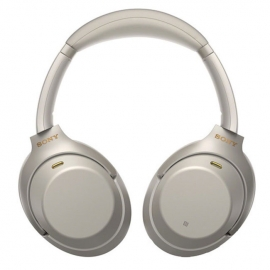 Sony WH1000XM3SCE7 Over Ear Wireless Noise Cancelling Headphones Silver - Front
