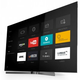 Loewe Bild 7.55 55 Inch 4K OLED TV in Graphite Grey with Integrated Soundbar, Hard Drive and Motorised Floor Stand