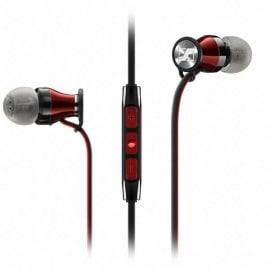 Sennheiser Momentum In Ear Headphones with Integrated Microphone for Apple Devices Black and Red