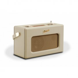 Roberts RD70 DAB+/DAB/FM Revival Radio with Bluetooth Pastel Cream angle
