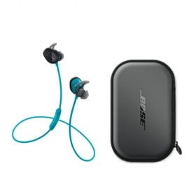 Bose® SoundSport® Wireless In-Ear Headphones in Aqua Blue with SOUNDSPORTCC Charging Case
